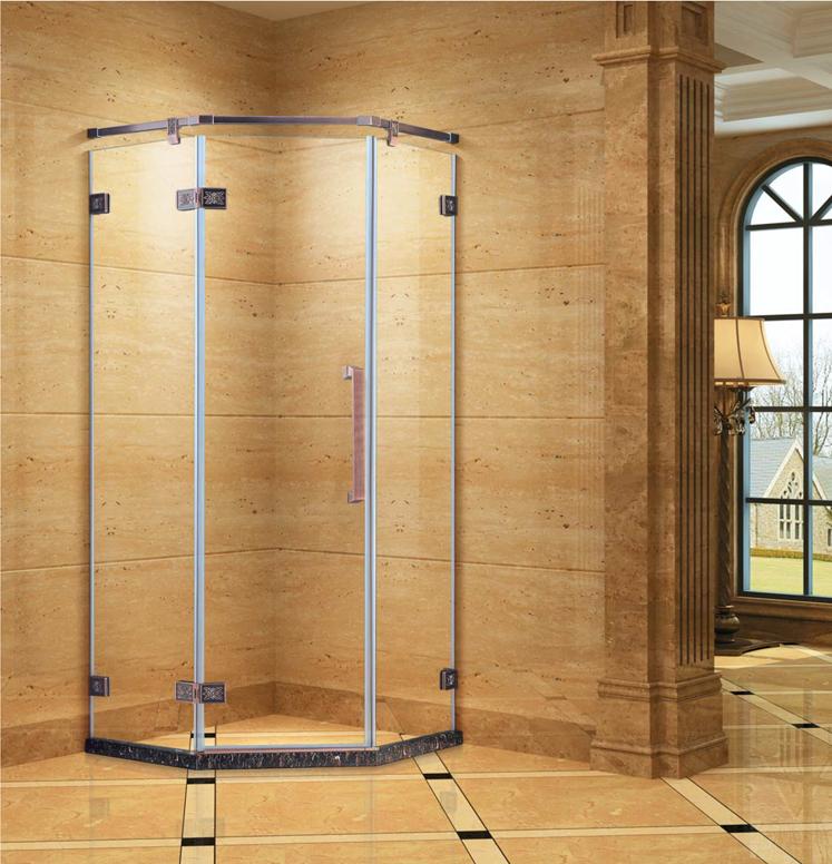 伊嘉利钻石形两固一活简易淋浴房j-006产品详细说明